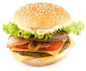 hamburger - niezdrowa dieta